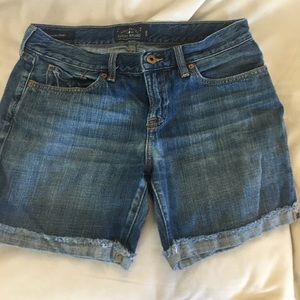 Luck Brand dark blue denim shorts